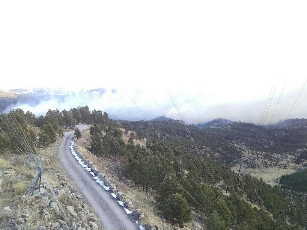 Fire at Custer State Park in South Dakota