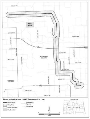 Hearing scheduled for Mountrail County power line