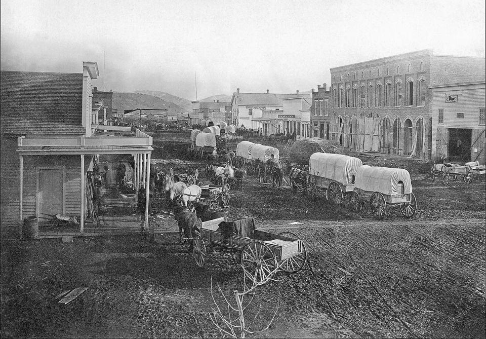 Historical photograph of downtown Bozeman