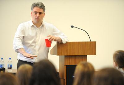 Author Joshua Phillips speaks at BHS