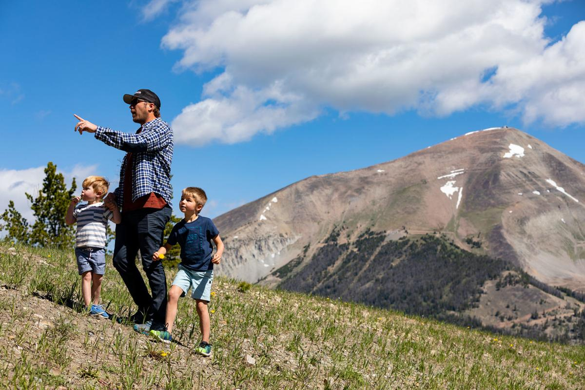 Bode Miller and sons hiking 2 - Courtesy of Lone Mountain Land Company.jpg
