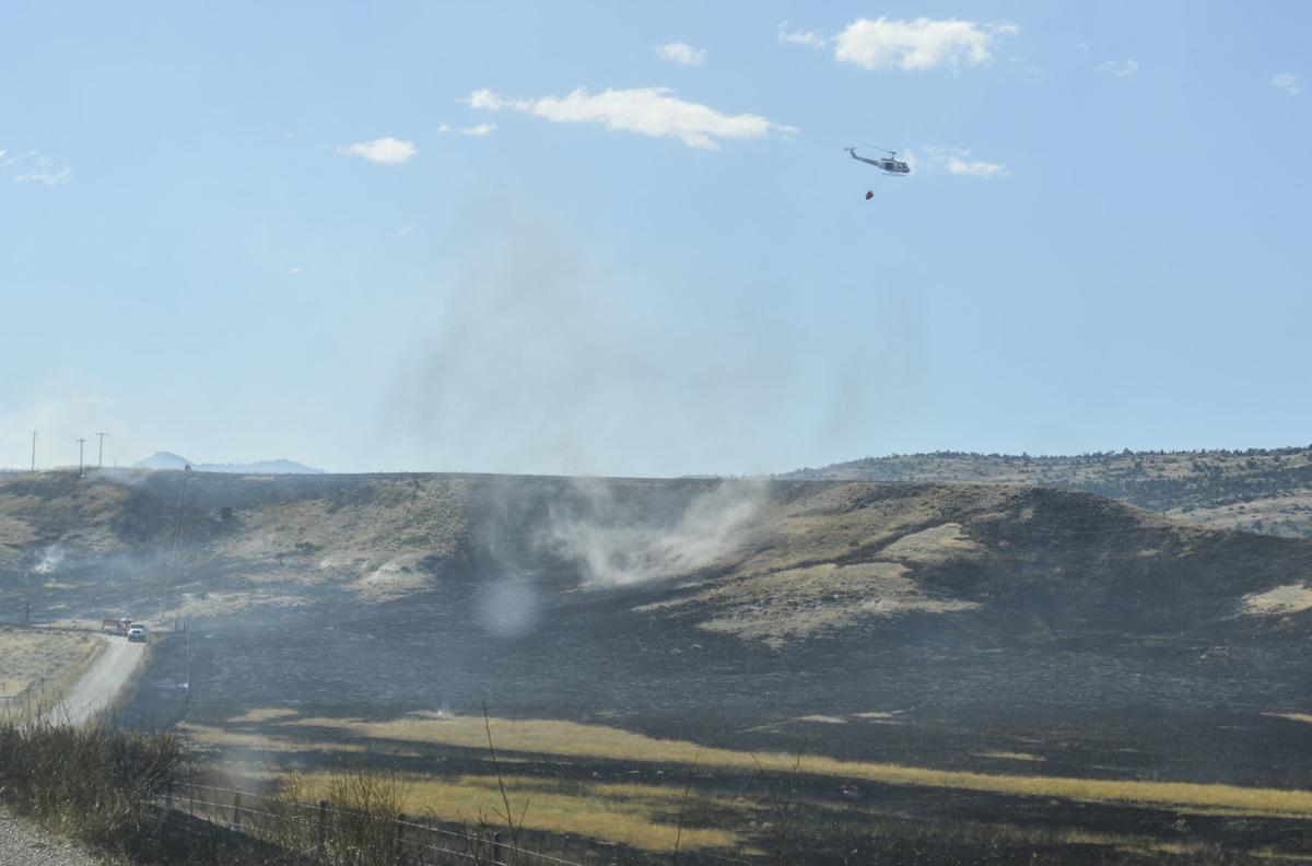 Fire west of Three Forks