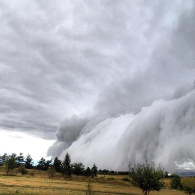 Stormclouds roll into Bozeman