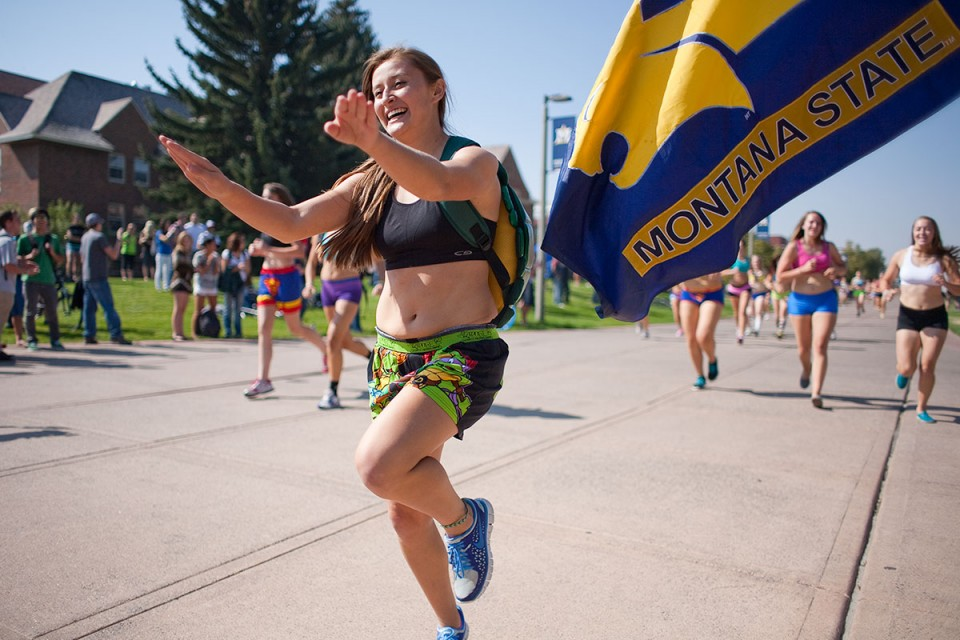 Undie Run: Charge of the Bobcat brigade enlivens campus