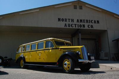 Historic Yellowstone touring bus