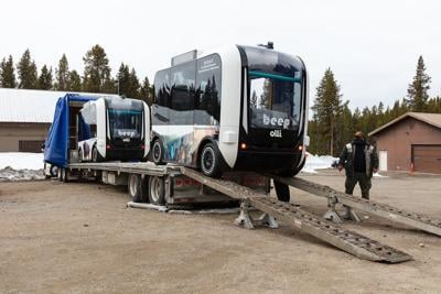 Automated shuttles arrive in Yellowstone