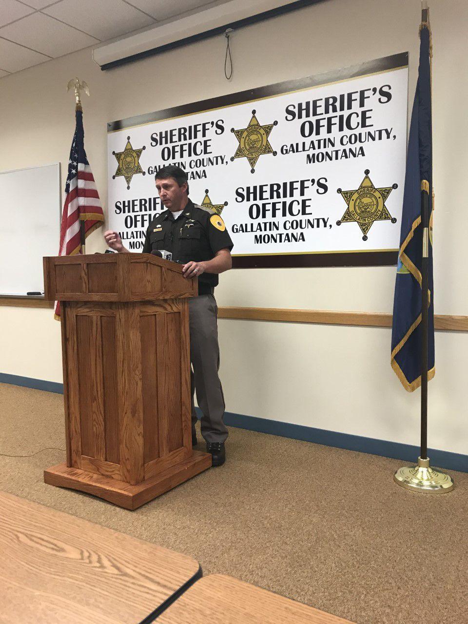 Sheriff Brian Gootkin at press conference 10-20