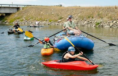 Sen. Max Baucus floats the Madison River