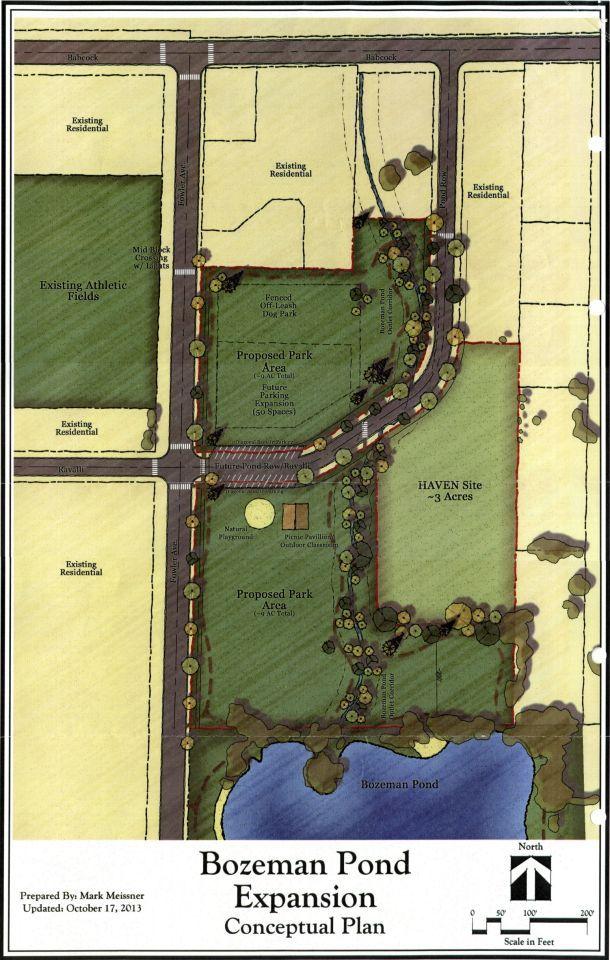 Bozeman Pond expansion plan