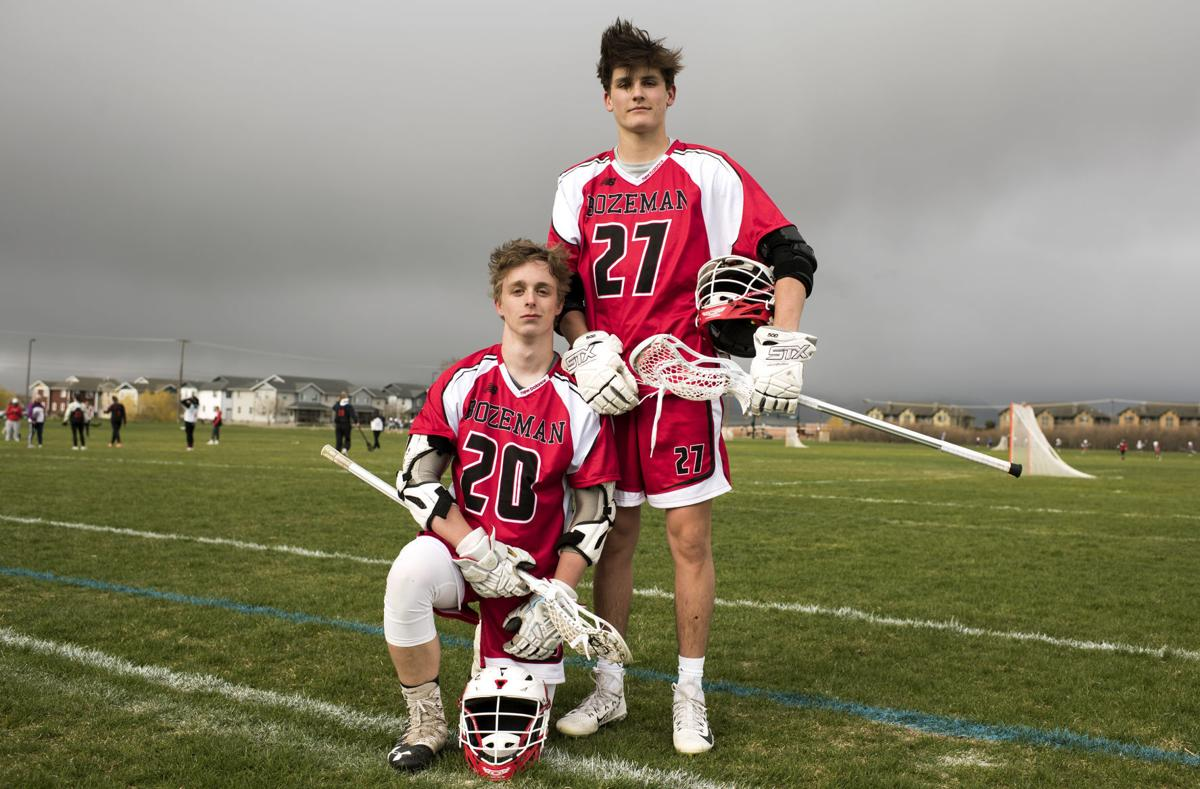 lacrosse captains Connor Patten and Tommy Holloran