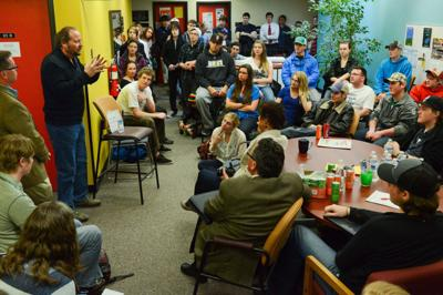 Schweitzer Talks to MSU Students