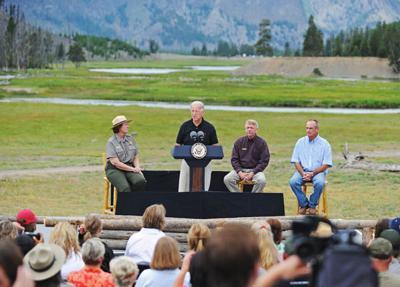 Biden visits Yellowstone