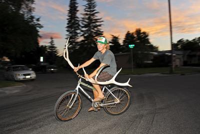 Elk antler bike