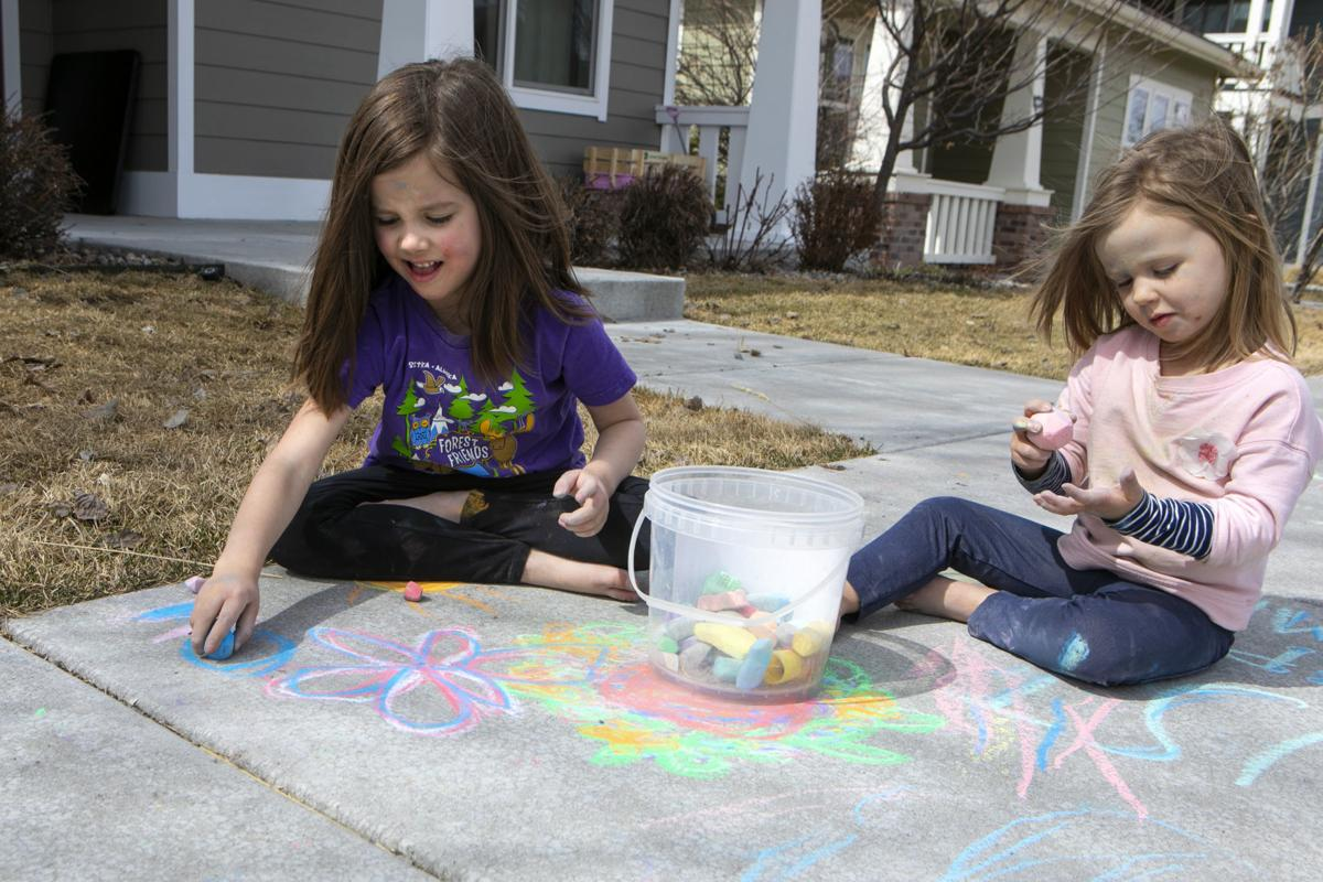 Stay at home sidewalk chalk