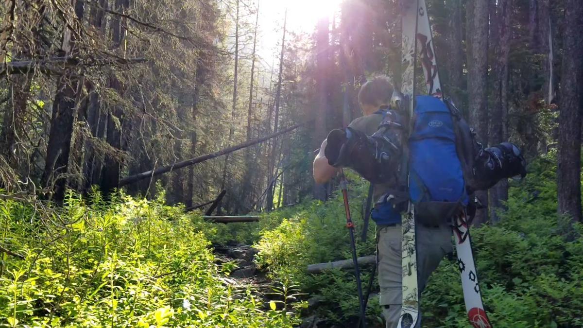 Jordan Skattum hikes up to Pine Creek Lake last June