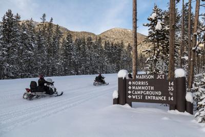 Yellowstone snowmobiles