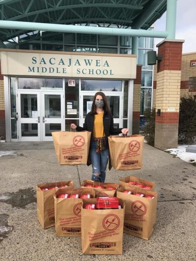 Sacajawea Middle School lunch donations