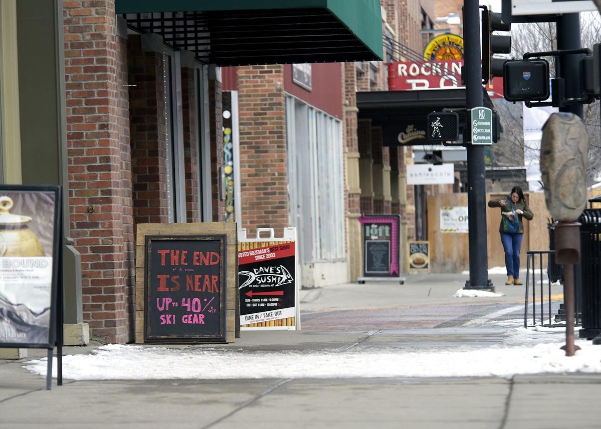"Bangtail Bikes and Ski Sign ""The end of ski season is near"""