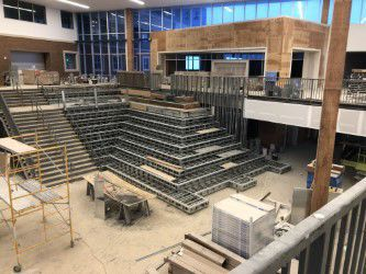 Gallatin High student commons stairway