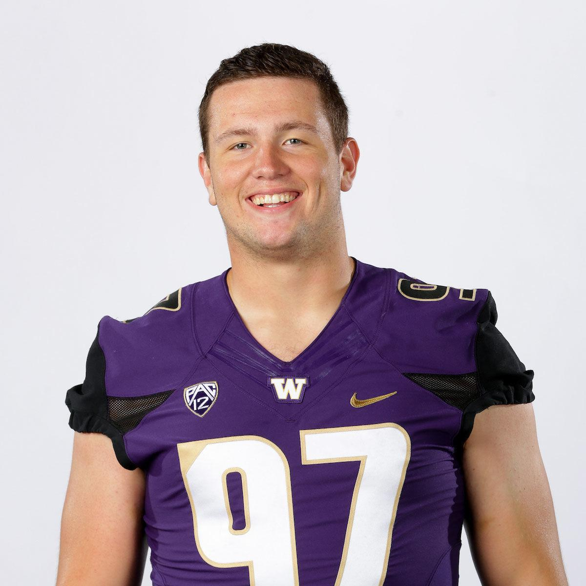 2017 University of Washington football head shot