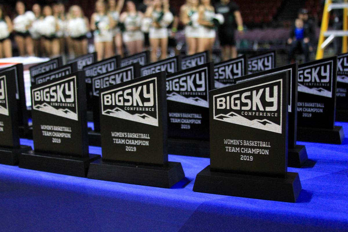 Big Sky women's basketball trophies