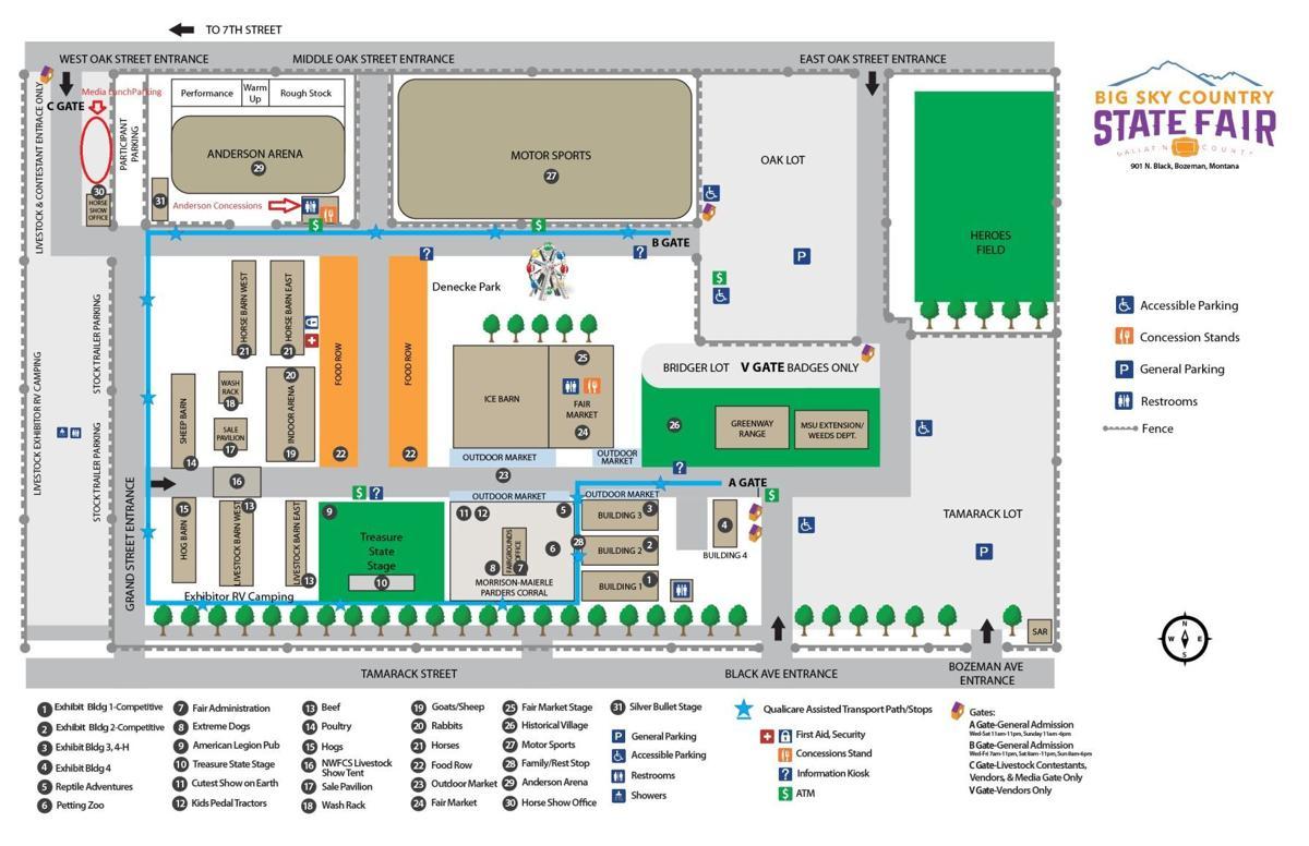 Fairgrounds Map 2021