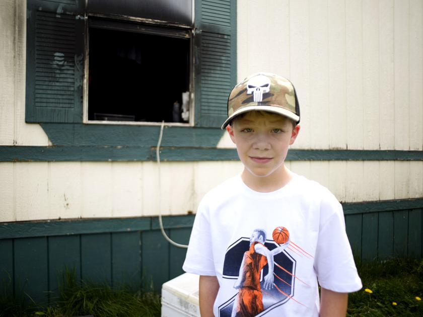'He's a hero': 10-year-old boy saved family from mobile home fire