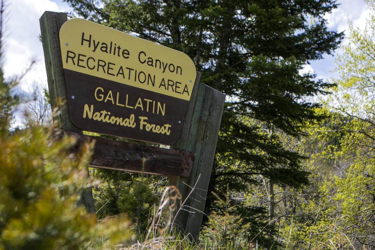 Hyalite Canyon Sign