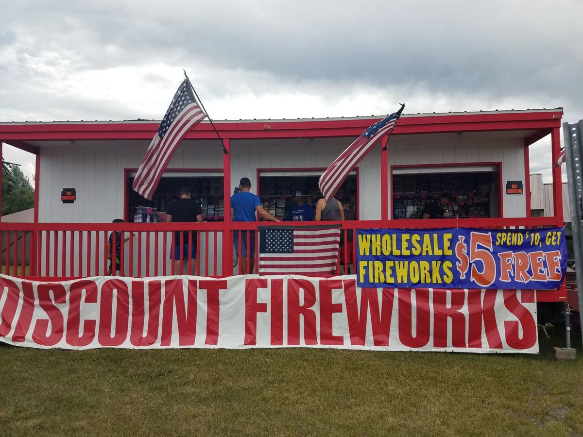 Fourth of July fireworks stands