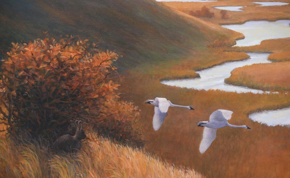 Monte Dolak Painting of O'Dell Creek Restoration