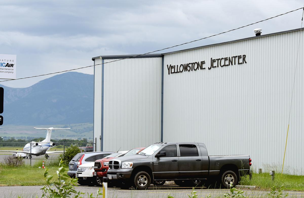 Jet hauled out of Yellowstone Jet Center