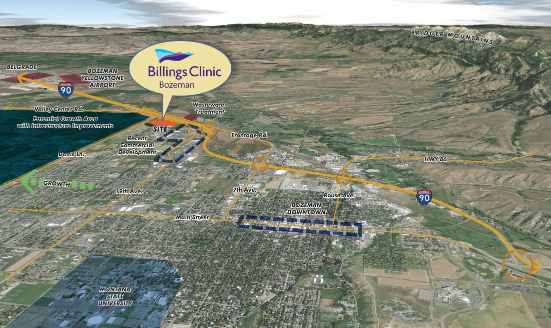 Billings Clinic map