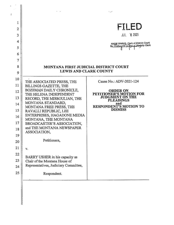 AP v. Usher Dismissal