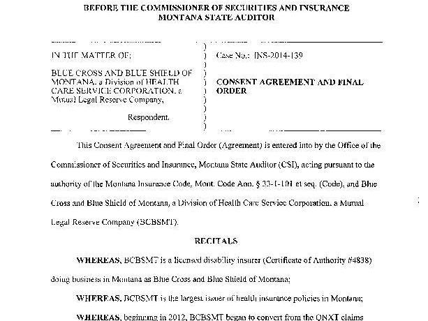 Blue Cross Blue Shield Of Montana Settlement Health
