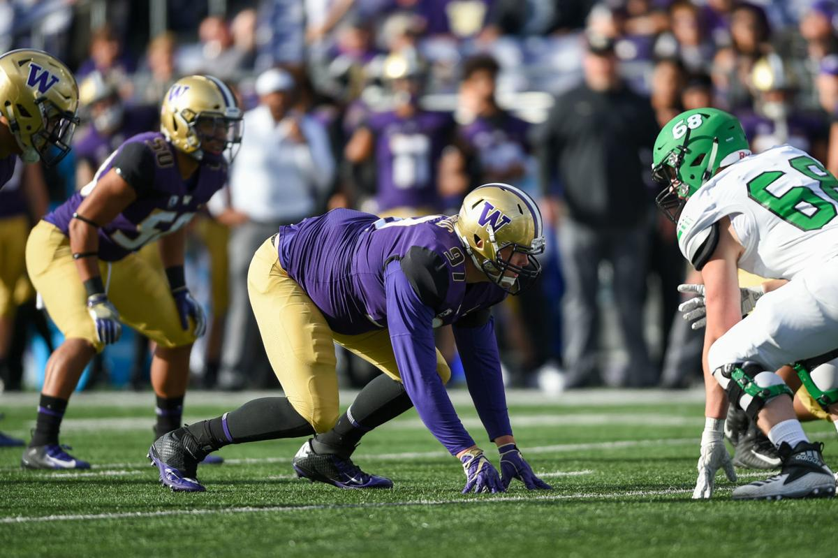 September 8, 2018; Seattle, Washington, USA. FBS Pac-12 Football: North Dakota Fighting Hawks vs. University of Washington Huskies.