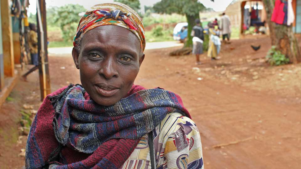 Village woman in Kenya