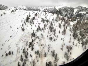 Beehive basin avalanche