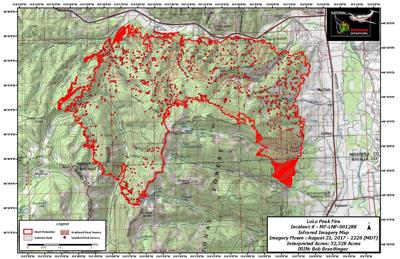 Peak Fire Map.Cabinet Members Coming To Montana To Visit Lolo Peak Fire Fire