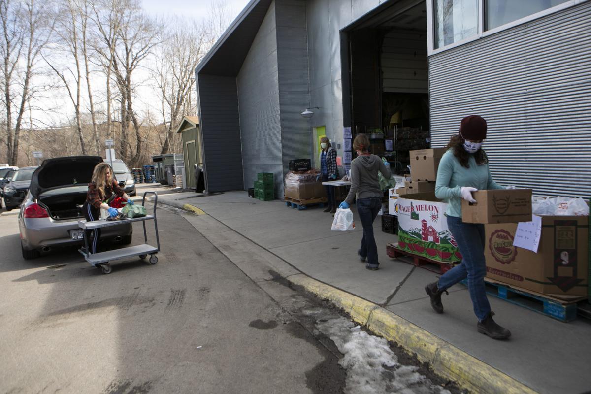 Food Bank drive-through