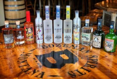 Bozeman Spirits bottles