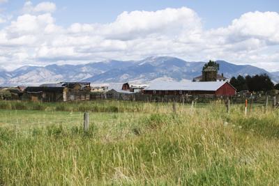 Barn under the Bridgers