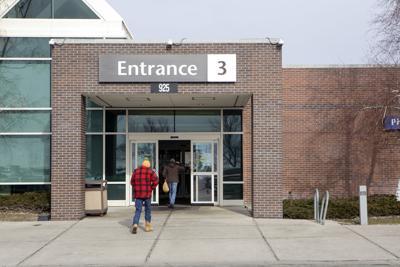 People entering Deaconess