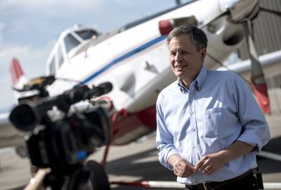 Steve Daines Bridger Aerospace Tour