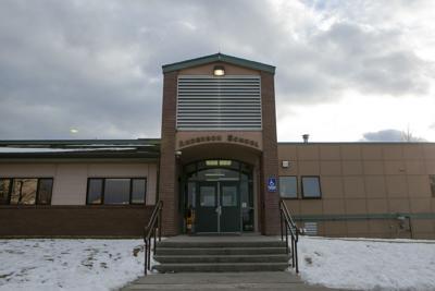 Anderson School building mug