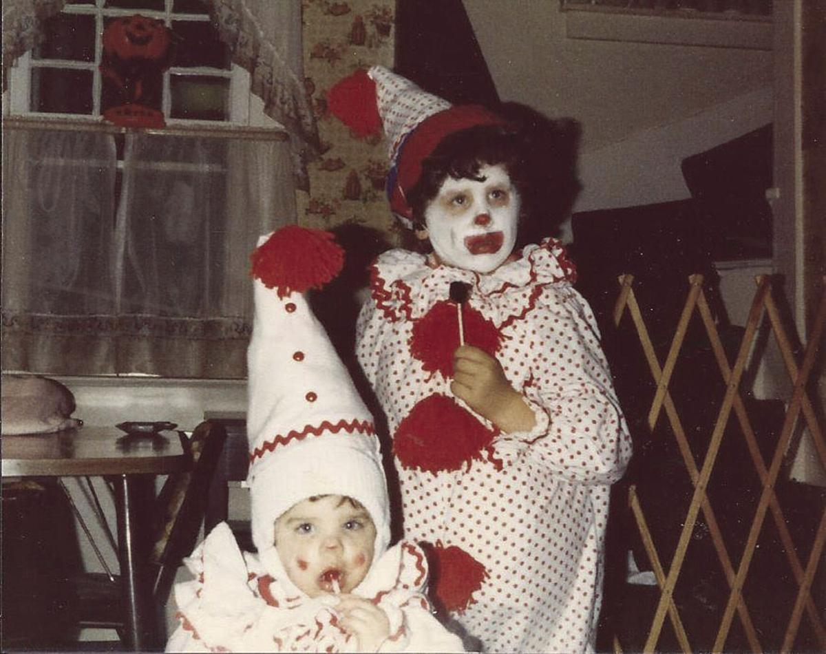 dave and mary ann rathfon of bradford dressed their children up as clowns back in 1980 on halloween spanning a tradition of homemade costumes in bradford