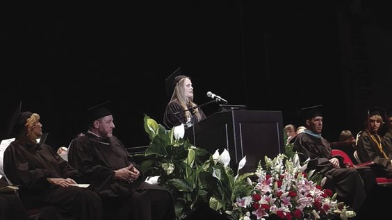Michelle Marie Fuhrman Elliott Who Was The 2008 Valedictorian Of Bradford Area High School Delivers Keynote Address During Graduation Exercises