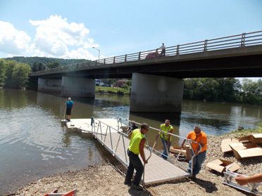 Boat launch: New floating dock installed along Allegheny
