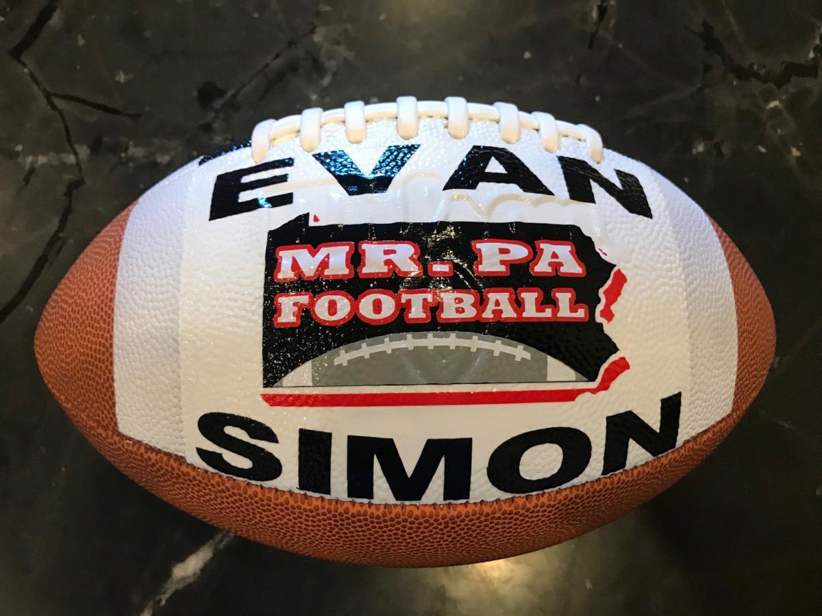 Simon — talented QB with Bradford ties — winner of 2019 Mr. PA Football Award