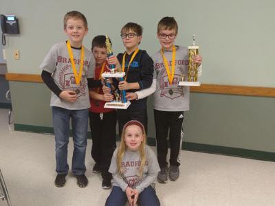 Bradford's elementary chess team