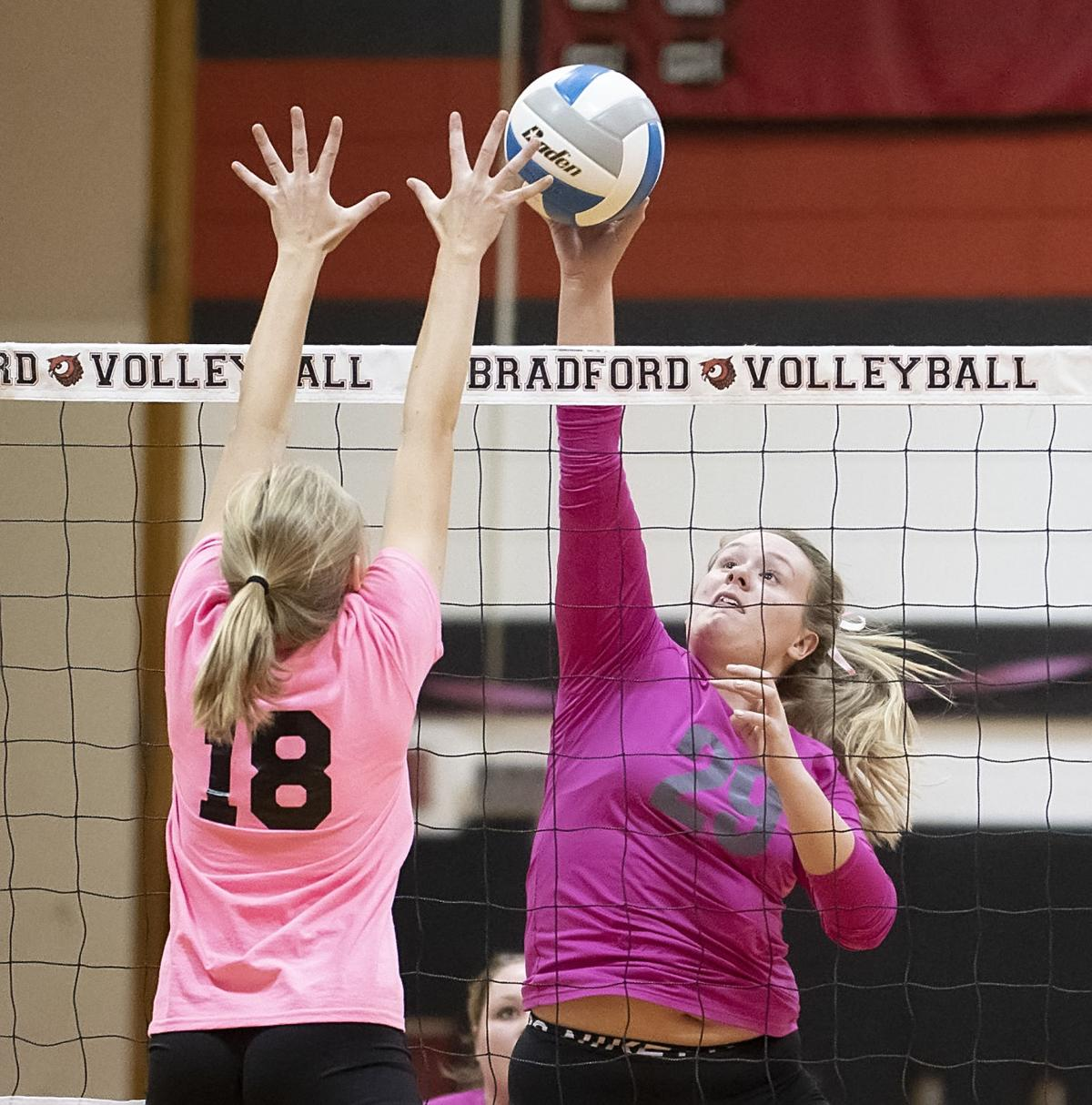 Bradford spikers top Jburg, 3-1, on 'Dig Pink' night